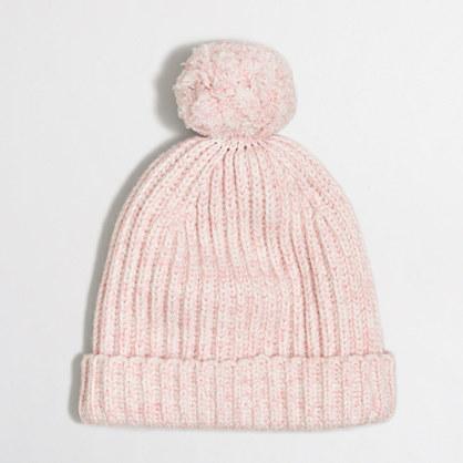 Marled pom-pom hat