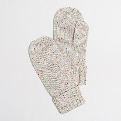 Flecked mittens
