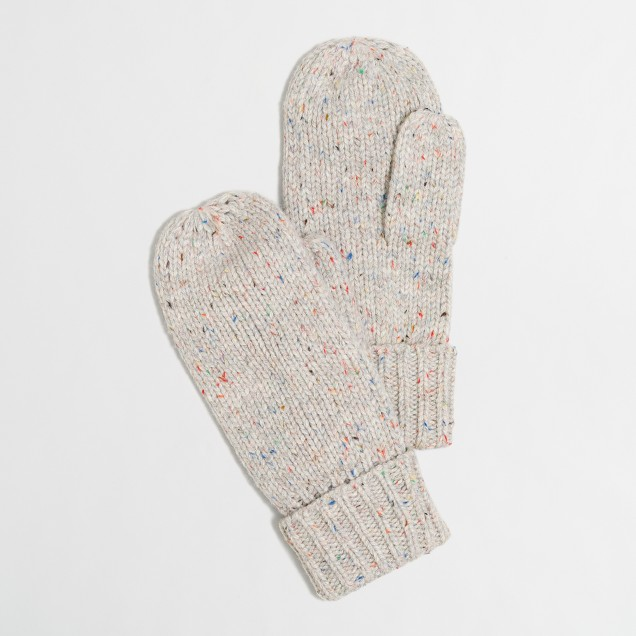 Flecked mittens