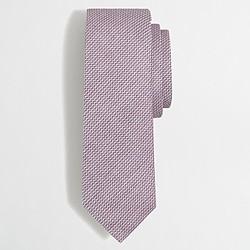 Cotton houndstooth tie