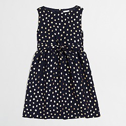 Girls' gold foil dot dress