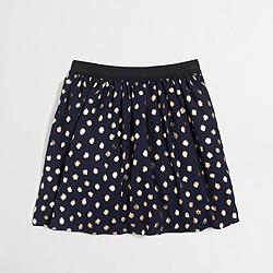 Girls' gold foil dot skirt
