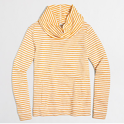 Striped funnelneck sweatshirt