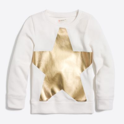Girls' foil star sweatshirt factorygirls shirts, t-shirts & tops c