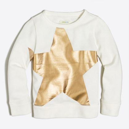 Girls' foil star sweatshirt