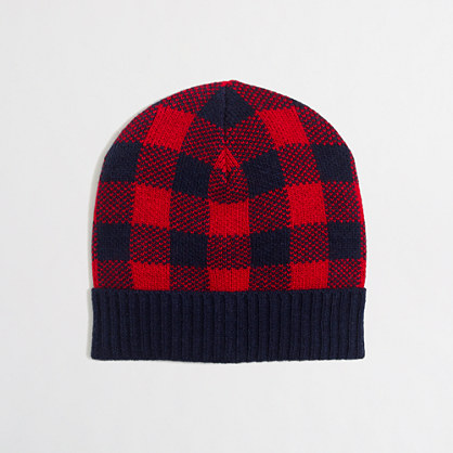 Boys' buffalo check hat