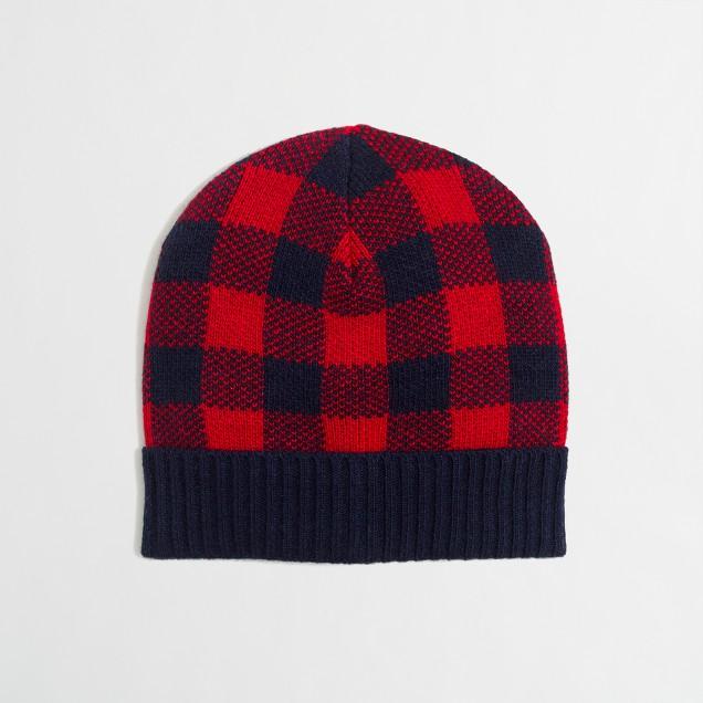 Boys' buffalo check hat