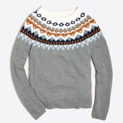 Metallic Fair Isle sweater : FactoryWomen Pullovers   Factory