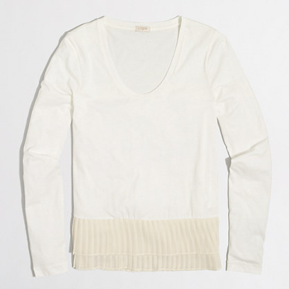 Pleated-hem T-shirt