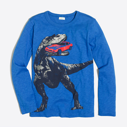 Boys' long-sleeve dino storybook T-shirt