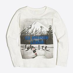 Boys' long-sleeve ice hockey storybook T-shirt