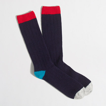 Tipped wool socks