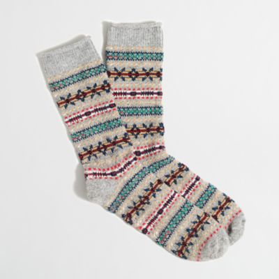 Fair Isle holiday socks