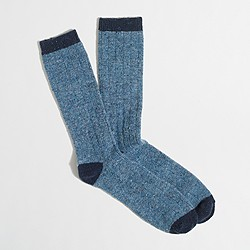 Tipped Donegal wool socks