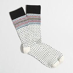 Fair Isle dot socks