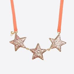 Girls' glitter star necklace