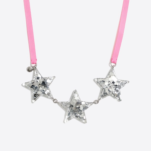 Girls' glitter star necklace