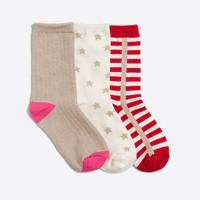 Girls' fun socks three-pack