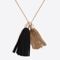 Multi-tassel pendant necklace