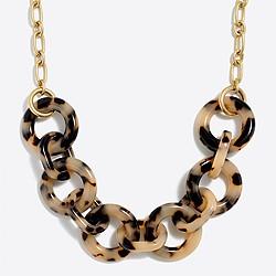 Tortoise link necklace