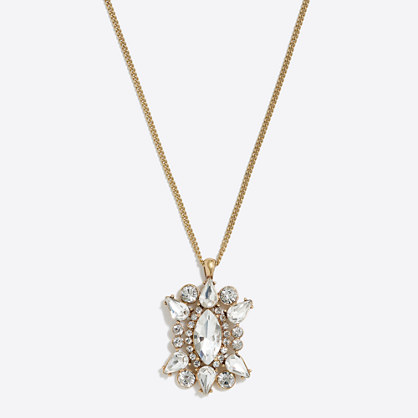 Crystal pendant necklace