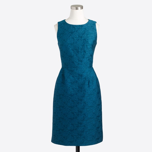 Anemone jacquard dress