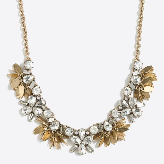 Crystal bouquet necklace