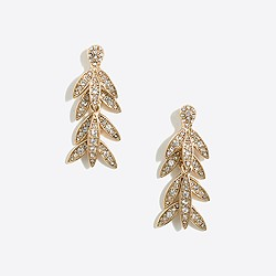 Golden palm dangle earrings