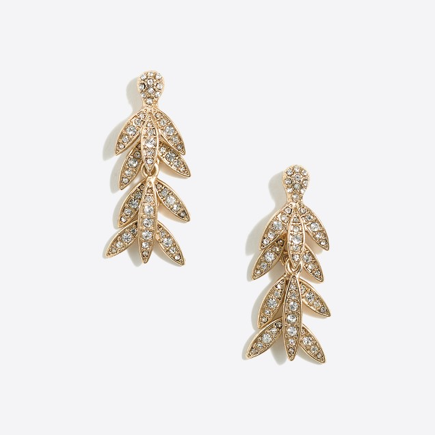 Golden palm dangle earrings