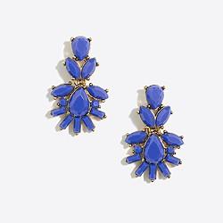 Fan cluster dangle earrings