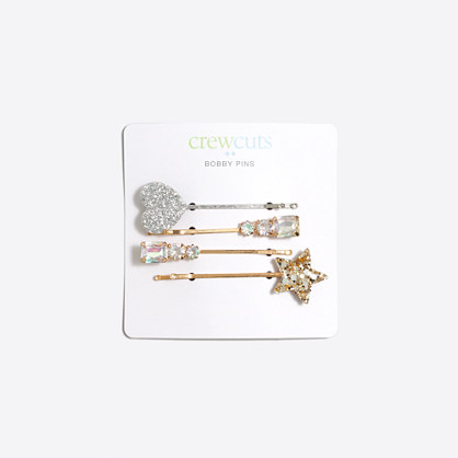 Girls' holiday bobby pins four-pack