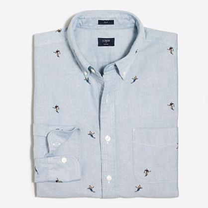 Slim printed oxford shirt shirts j crew factory for T shirt printing oxford