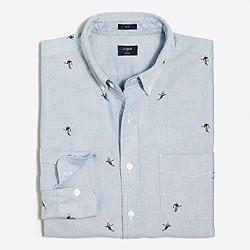 Slim printed oxford shirt