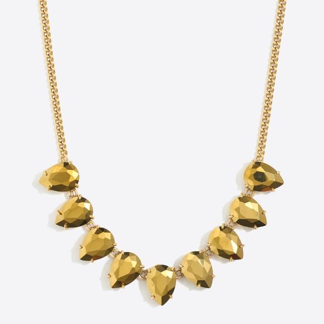 Teardrop gemstone necklace