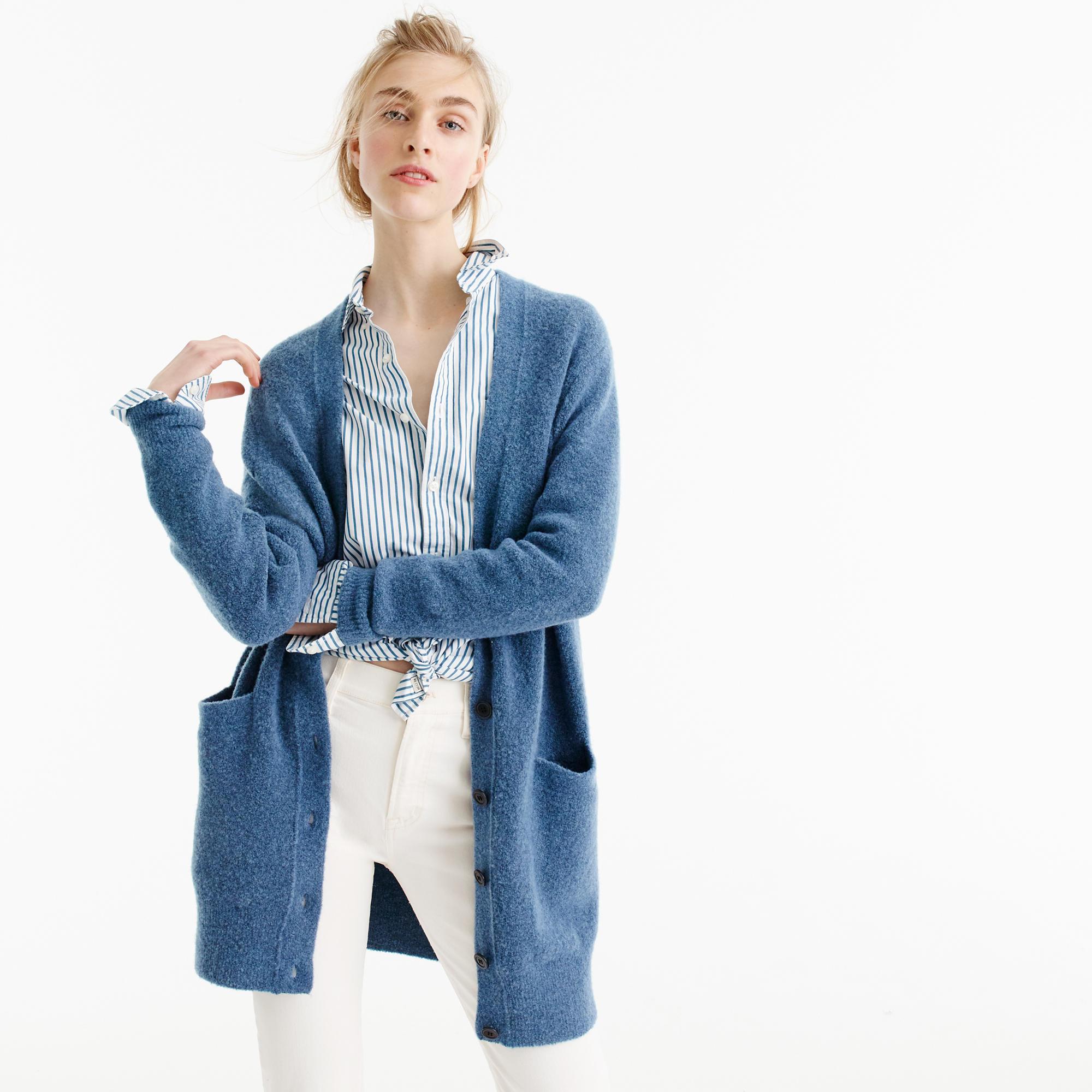 Stretch BouclÉ Cardigan Sweater : Women's Sweaters | J.Crew
