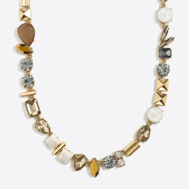 Stone parade necklace