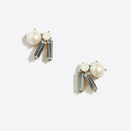Sunray cluster earrings