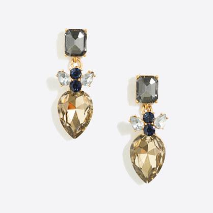 Stacked crystal dangle earrings
