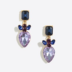 Stacked crystal dangle earrings