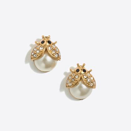 Ladybug stud earrings