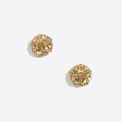 Pavé stud earrings