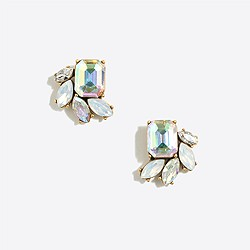 Crystal wave cluster earrings