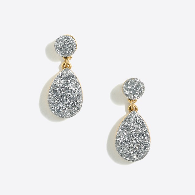 Glitter dangle earrings