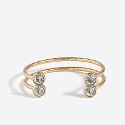 Double crystal cuff bracelet
