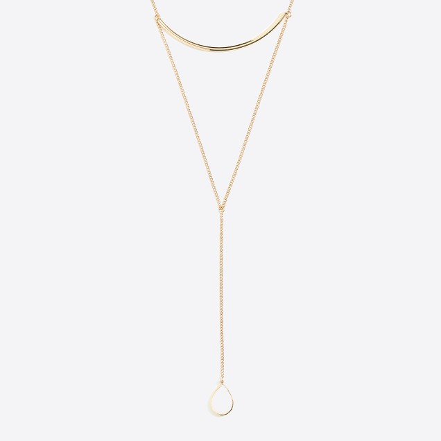 Raindrop Y-necklace