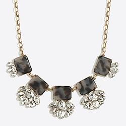 Crystal tortoise fan necklace