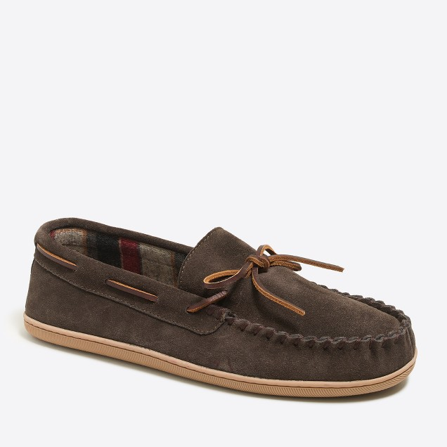Flannel-lined moccasins