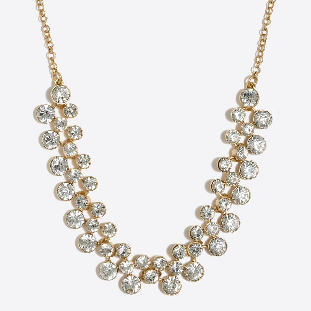 Crystal bubbles necklace