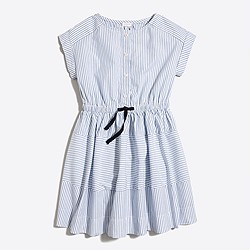 Girls' striped shirtdress