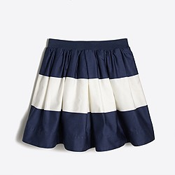 Girls' wide-stripe sateen skirt